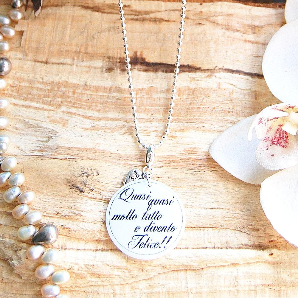 nuovo stile e lusso vendita calda genuina nuovi prezzi più bassi Emélie   Vendita collane personalizzate con frasi in resina   Collane