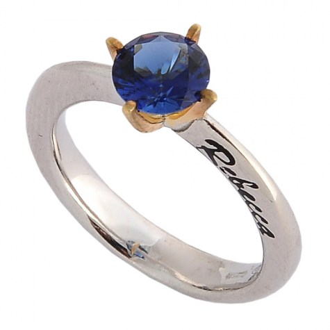 Blu - Solitaire rings color