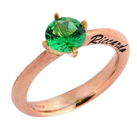 Verde - Solitaire rings color