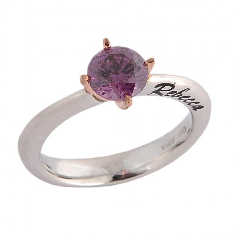 Viola - Solitaire rings color